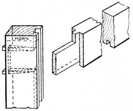 application of haunched tenon joint to door frame